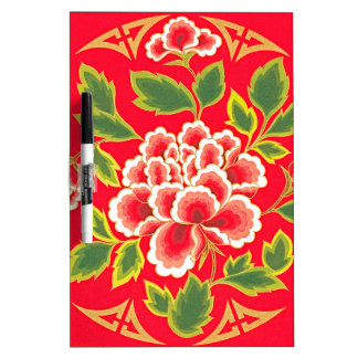 Traditional Chinese Embroidery Design Dry Erase Board