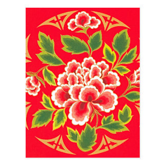 Traditional Chinese Embroidery Design Post Card