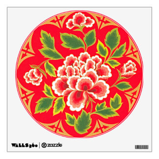 Traditional Chinese Embroidery Design Wall Decal