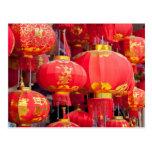 Traditional Chinese lantern hanging Postcard