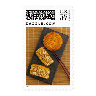 Traditional Chinese mixed nut moon cake Stamp