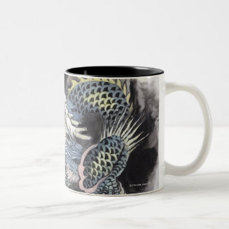 Traditional Chinese Painting, Year Of The Dragon 3 Two-Tone Coffee Mug