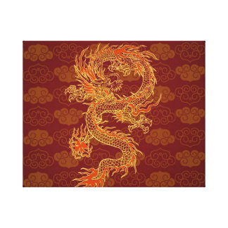 Traditional Chinese Red Dragon Canvas Print