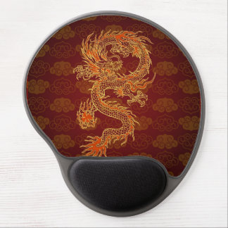 Traditional Chinese Red Dragon Gel Mouse Pad