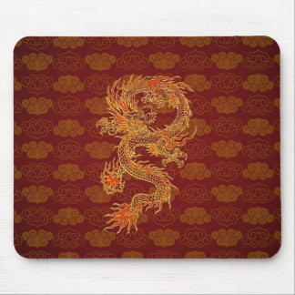 Traditional Chinese Red Dragon Mouse Pad