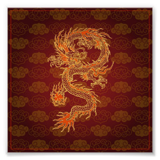 Traditional Chinese Red Dragon Photo Print