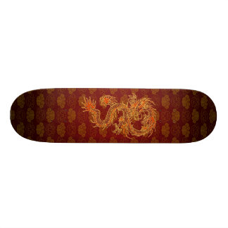 Traditional Chinese Red Dragon Skateboard
