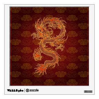 Traditional Chinese Red Dragon Wall Sticker
