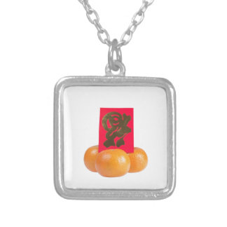 Traditional Chinese symbol for good fortune Square Pendant Necklace