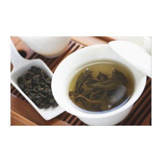 Traditional Chinese tea ceremony: oolong tea Canvas Print