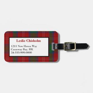 Traditional Chisholm Tartan Plaid Luggage Tag
