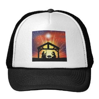 Traditional Christian Christmas Nativity Scene Mesh Hat