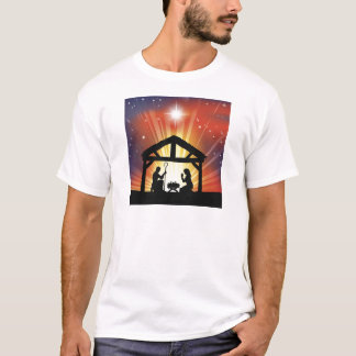 Traditional Christian Christmas Nativity Scene T-Shirt