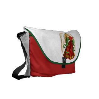 Traditional Christmas Angel Messenger Bag