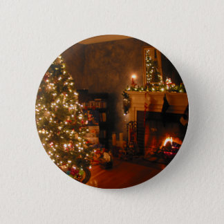 Traditional Christmas Button