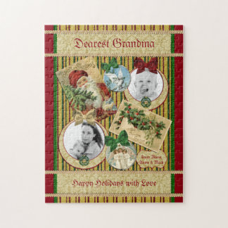 Traditional Christmas Classic Holiday Photo Frame Jigsaw Puzzle