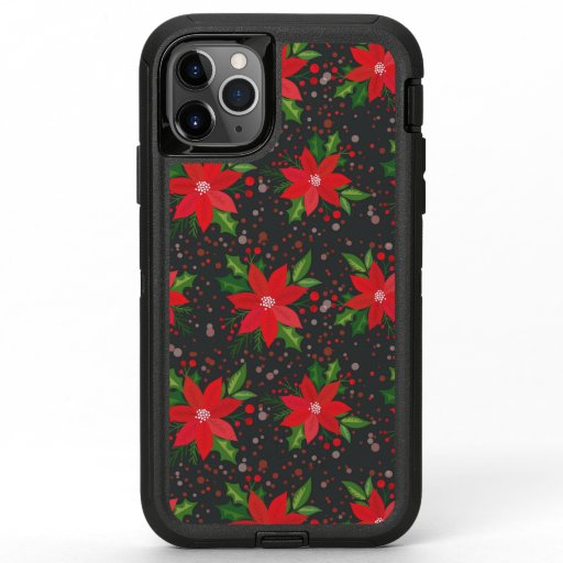 Traditional Christmas Floral OtterBox Defender iPhone 11 Pro Max Case