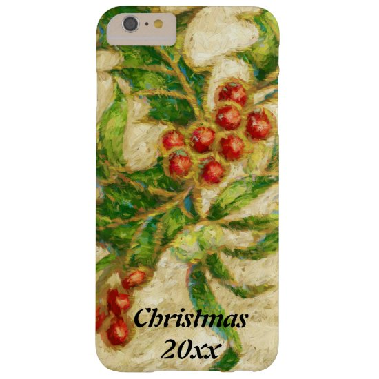Traditional Christmas Holly & Berries Phone Case