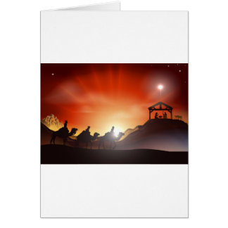 Traditional Christmas Nativity Scene Card