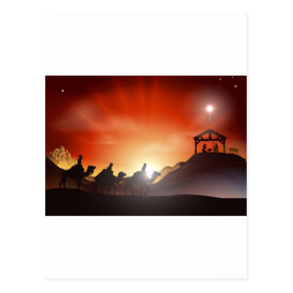 Traditional Christmas Nativity Scene Postcards