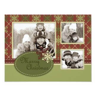 "Traditional Christmas Photo Card A2 4.25"" X 5.5"" Invitation Card"
