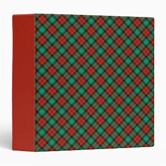 Traditional Christmas Plaid Binder