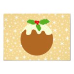 Traditional Christmas Pudding. 3.5x5 Paper Invitation Card