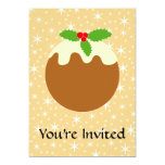 Traditional Christmas Pudding. 5x7 Paper Invitation Card