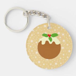 Traditional Christmas Pudding. Acrylic Keychains