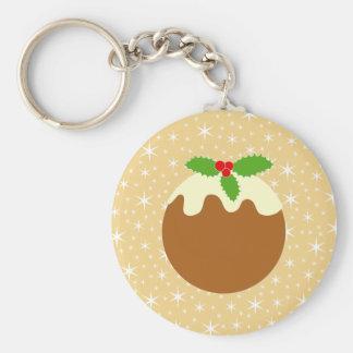 Traditional Christmas Pudding. Keychains