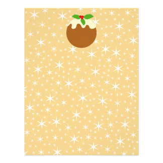 Traditional Christmas Pudding. Personalized Letterhead