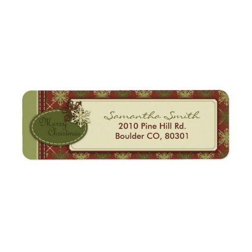 Traditional Christmas Return Label