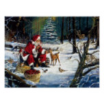 Traditional Christmas Santa in the Park Posters