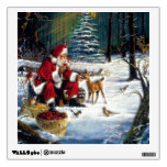 Traditional Christmas Santa in the Park Wall Decals