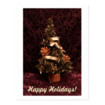 Traditional Christmas tree card Post Card