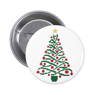 Traditional Christmas tree Pinback Button