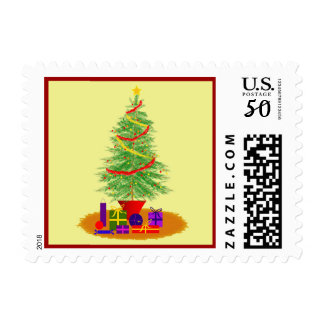 Traditional Christmas Tree Stamps