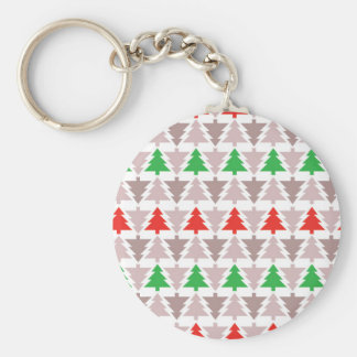 Traditional Christmas Trees Keychains