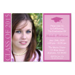 "Traditional Class Of 2015 Graduation (Raspberry) 5"" X 7"" Invitation Card"