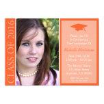 Traditional Class Of 2016 Graduation (Orange) Card