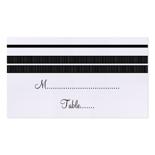 Traditional Classic Stripes Place Card Double-Sided Standard Business Cards (Pack Of 100)