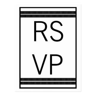 Traditional Classic Stripes RSVP Postcard
