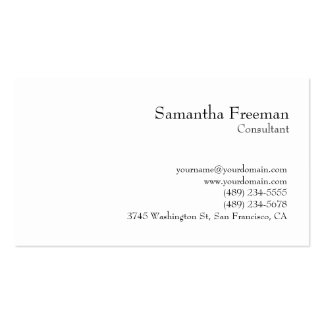 Traditional Clear Black White Minimalist Double-Sided Standard Business Cards (Pack Of 100)