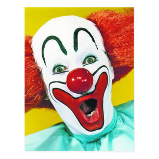 Traditional Clown Postcard