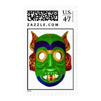 Traditional Colorful Thai Mask Postage