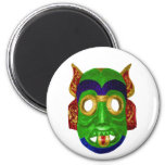 Traditional Colourful Thai Mask 2 Inch Round Magnet