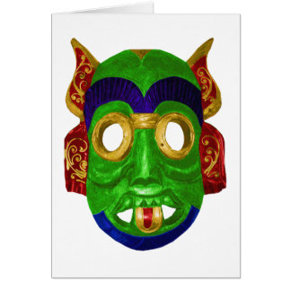 Traditional Colourful Thai Mask Card