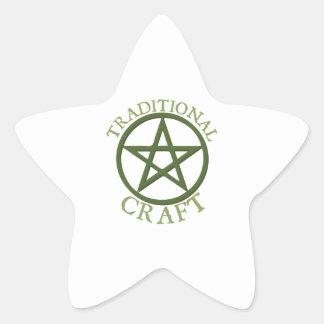 Traditional Craft Star Sticker