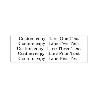 Traditional Custom Business 5 Lines of Serif Text Self-inking Stamp