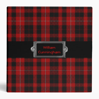 Traditional Custom Cunningham Tartan Plaid Binder